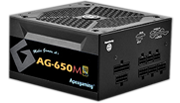 AG-650M APEXGAMING AG Series Gaming Power Supply