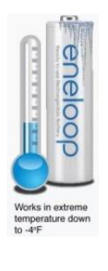 eneloop pro High Capacity 2550mAh Ni-MH Pre-Charged Rechargeable Batteries