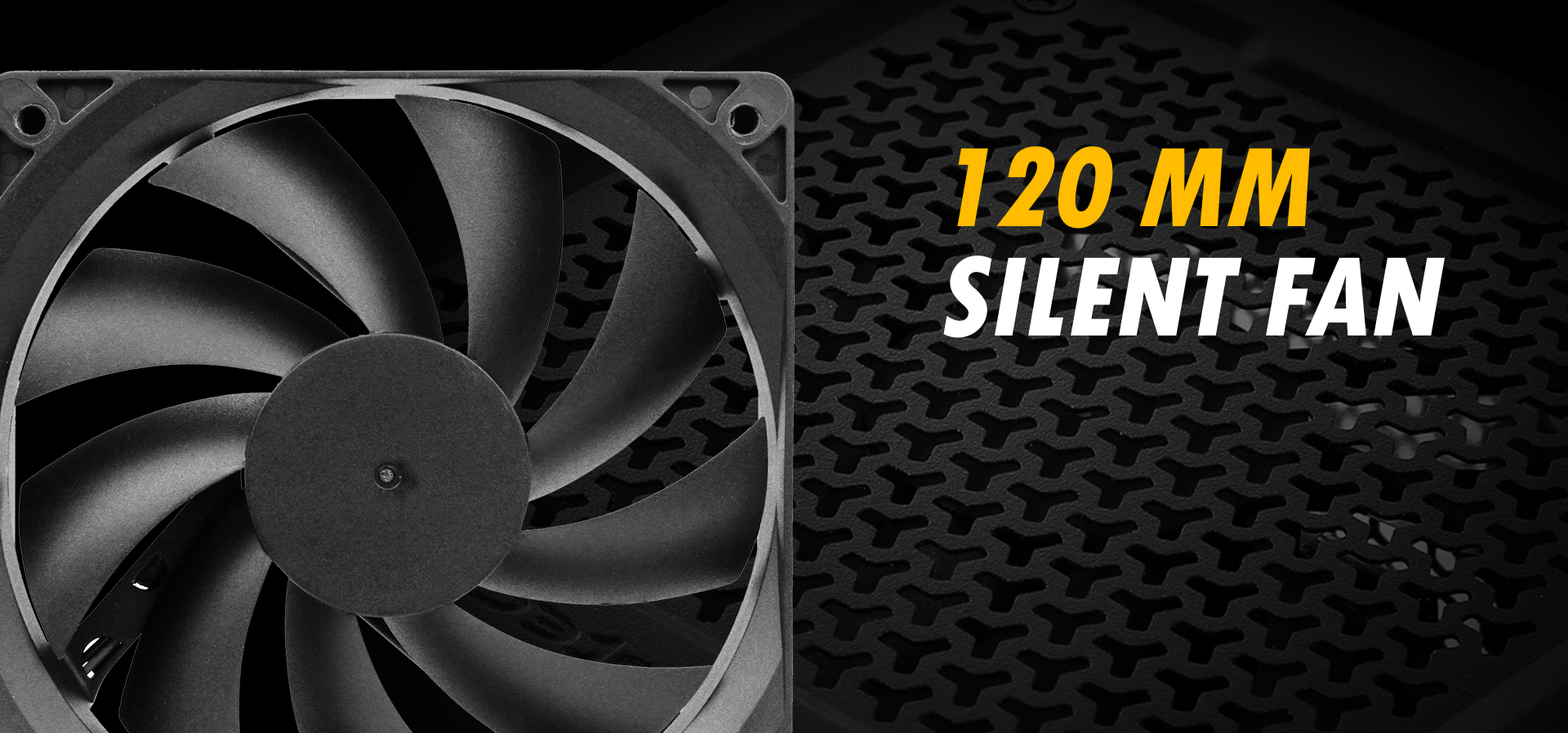 Antec NeoECO Gold ZEN Series NE500G ZEN Power Supply low voltage fan close-up