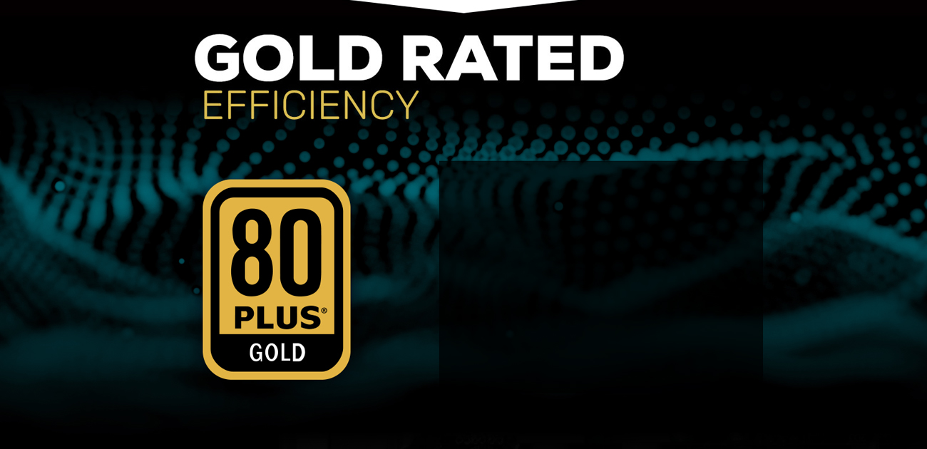 Gold rated and 80 Plus certification icon