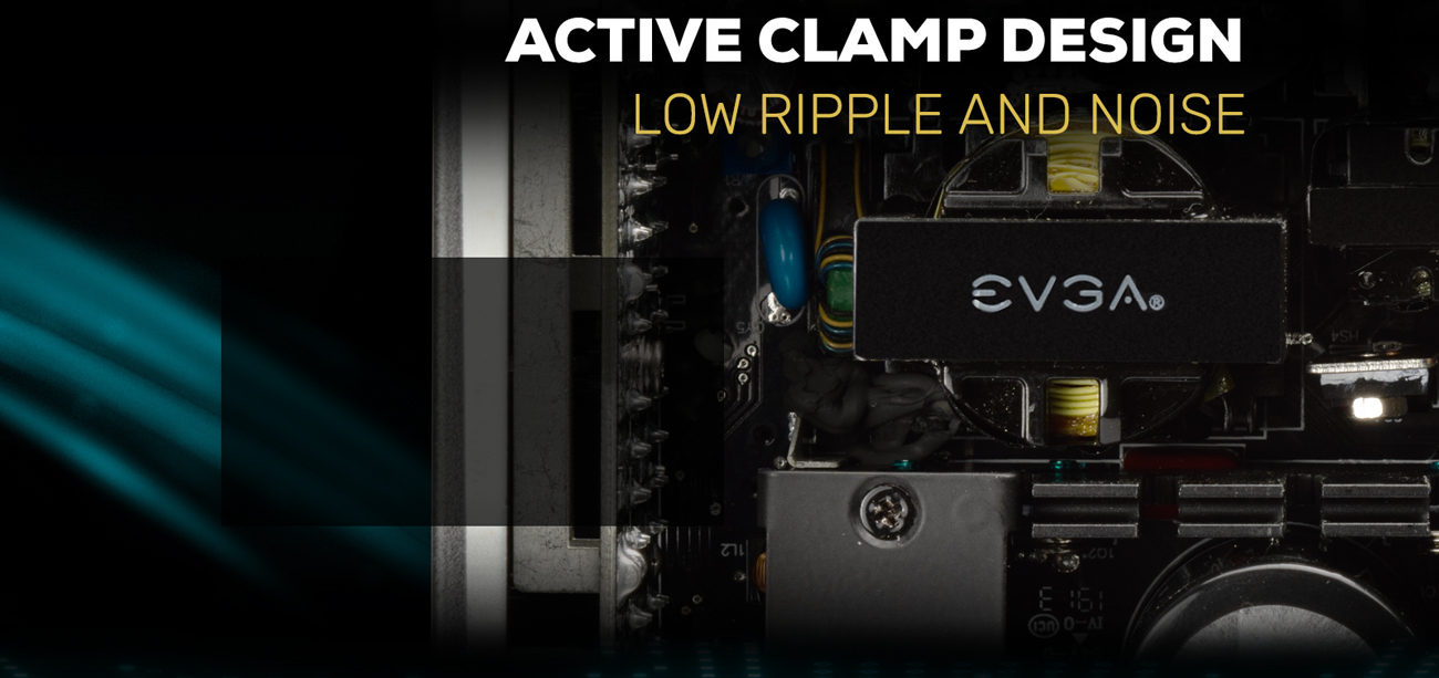 EVGA SuperNOVA 850 G5 Active clamp design low ripple and noise show