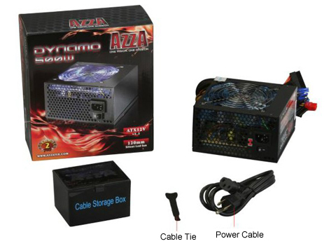 whatsinbox azza dynamo 500 500w atx 12v ver 2 2 power supply newegg com  at gsmx.co