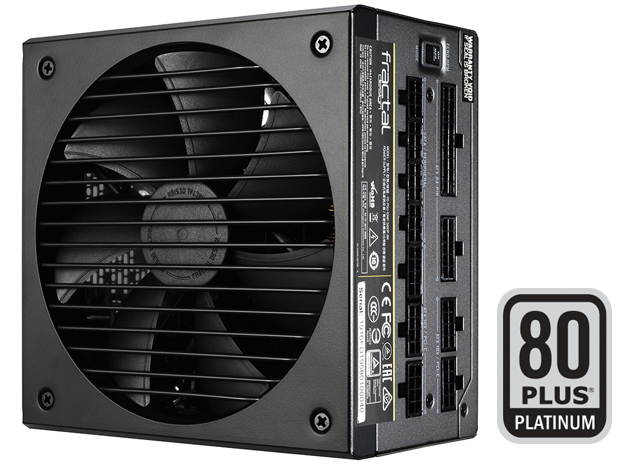 80 PLUS PLATINUM EFFICIENCY Badge Next to the Power Supply Standing Up