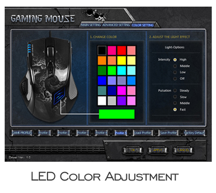UtechSmart US-D8200-GM High Precision Laser Gaming Mouse