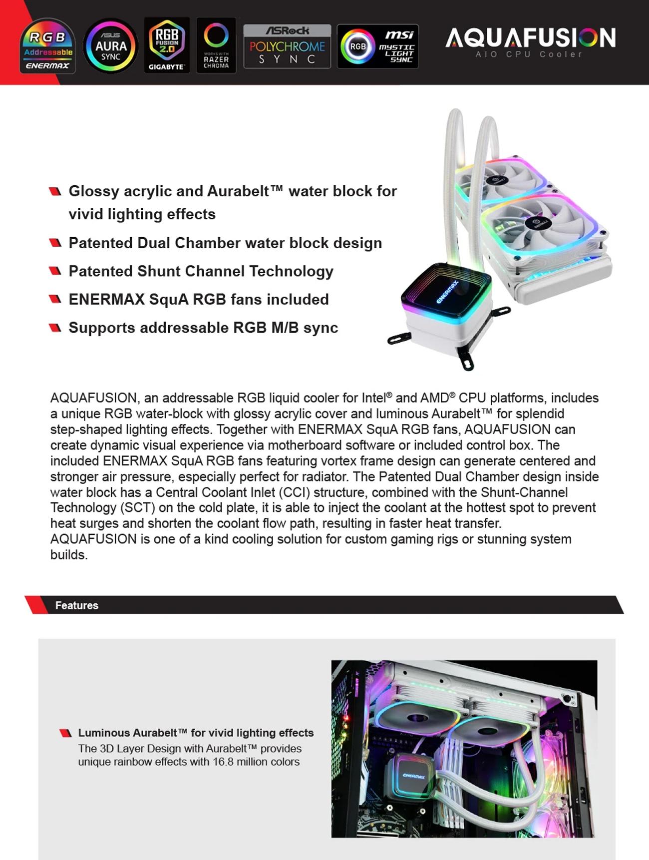 Enermax AQUAFUSION 240 CPU Liquid Cooler