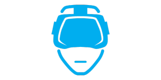 a blue VR headset icon