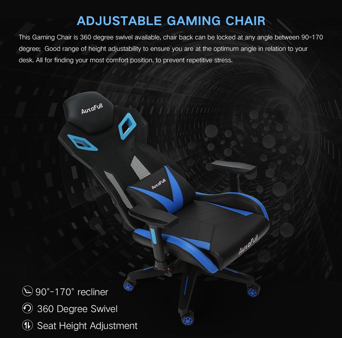 Autofull Gaming Chair Mesh Ergonomic Executive High Back