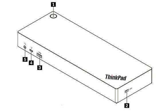 Lenovo Docking Station - for Notebook/Tablet PC - Thunderbolt 3 - 5 x USB  Ports - 5 x USB 3 0 - Network (RJ-45) - HDMI - VGA - DisplayPort - Audio