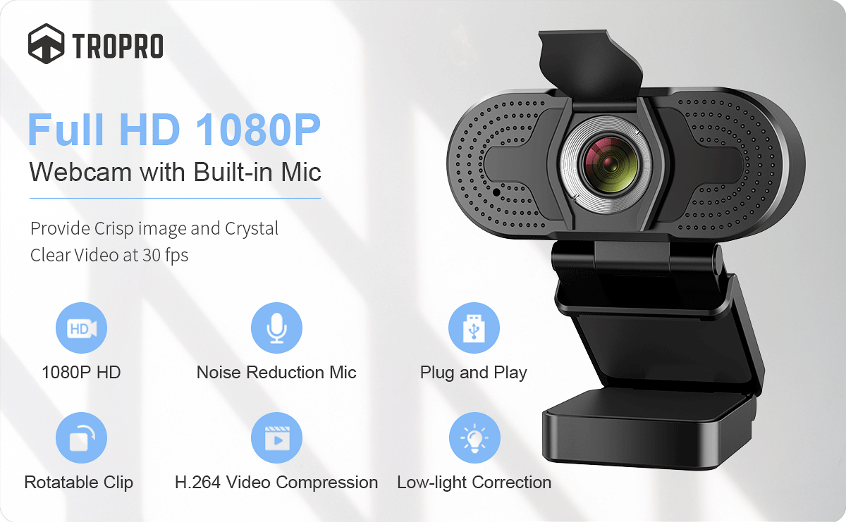 TROPRO Webcam for PC