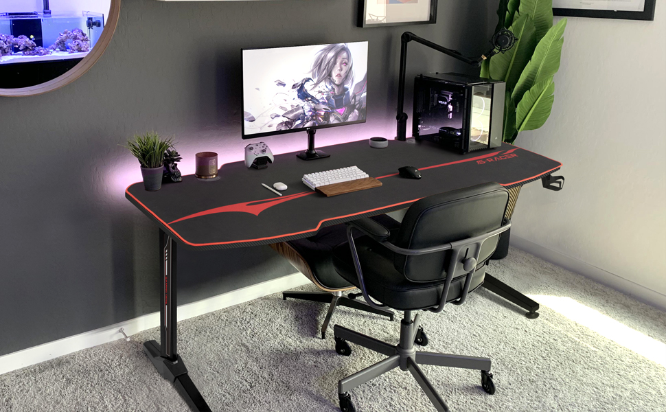 Homall 55 Inch Ergonomic Gaming Desk-a1