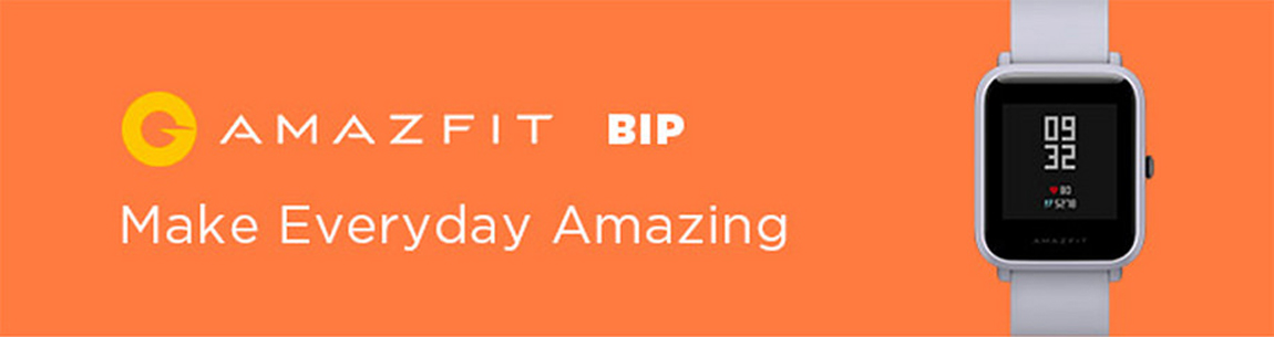 Amazfit Bip Smartwatch With All Day Heart Rate And