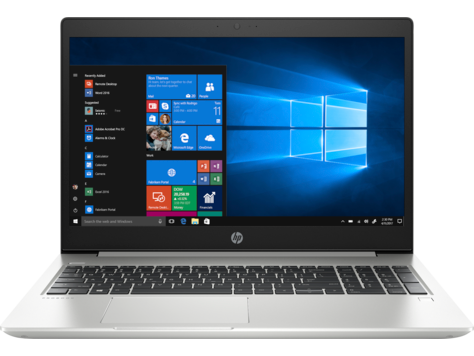 HP Laptop ProBook 450 G6 Open and Facing Forward
