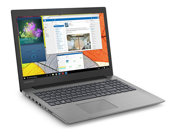 IdeaPad 330 angled to right showing multiple windows