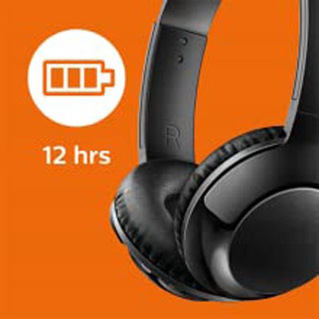 Philips Shb3075bk Bass Wireless Bluetooth On Ear Headphones With Mic Black Newegg Com