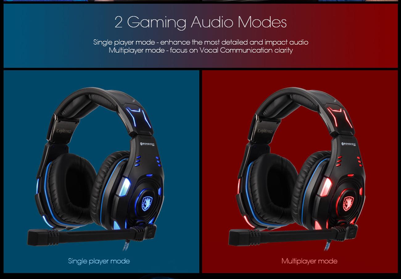 SADES Knight Pro USB Gaming Headset