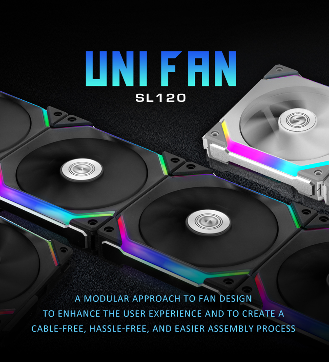 LIAN LI UNI FAN SL120 RGB WHITE ---UF-SL120-1W(No controller included) -  Newegg.com