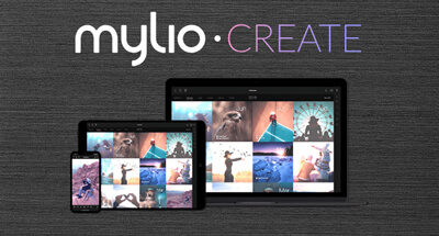Mylio Create with a smartphone, a tablet and a laptop