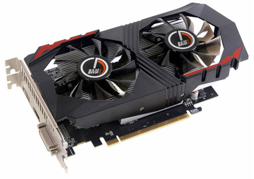 Top view of the AMD Radeon RX 560 Graphics Card, angled slightly to the right