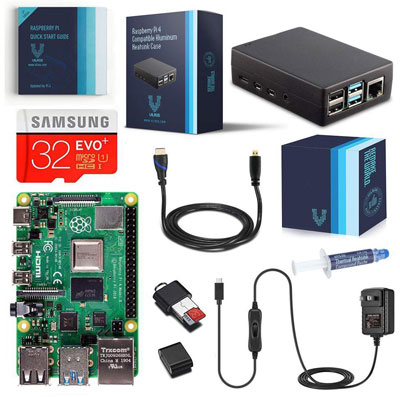 Vilros Raspberry Pi Basic Starter Kit with Heavy-Duty Self-Cooling Aluminum Alloy Case 2GB