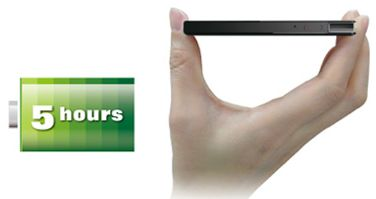 The slimmest storage device capable of 5 hours of uninterrupted playback