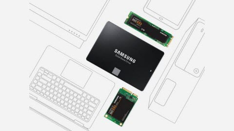 The samsung ssd in its 2.5