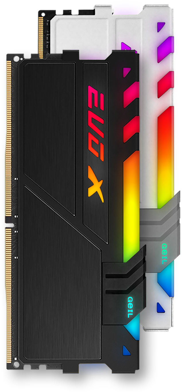 Geil EVO X Memory Sticks Standing Up Vertically