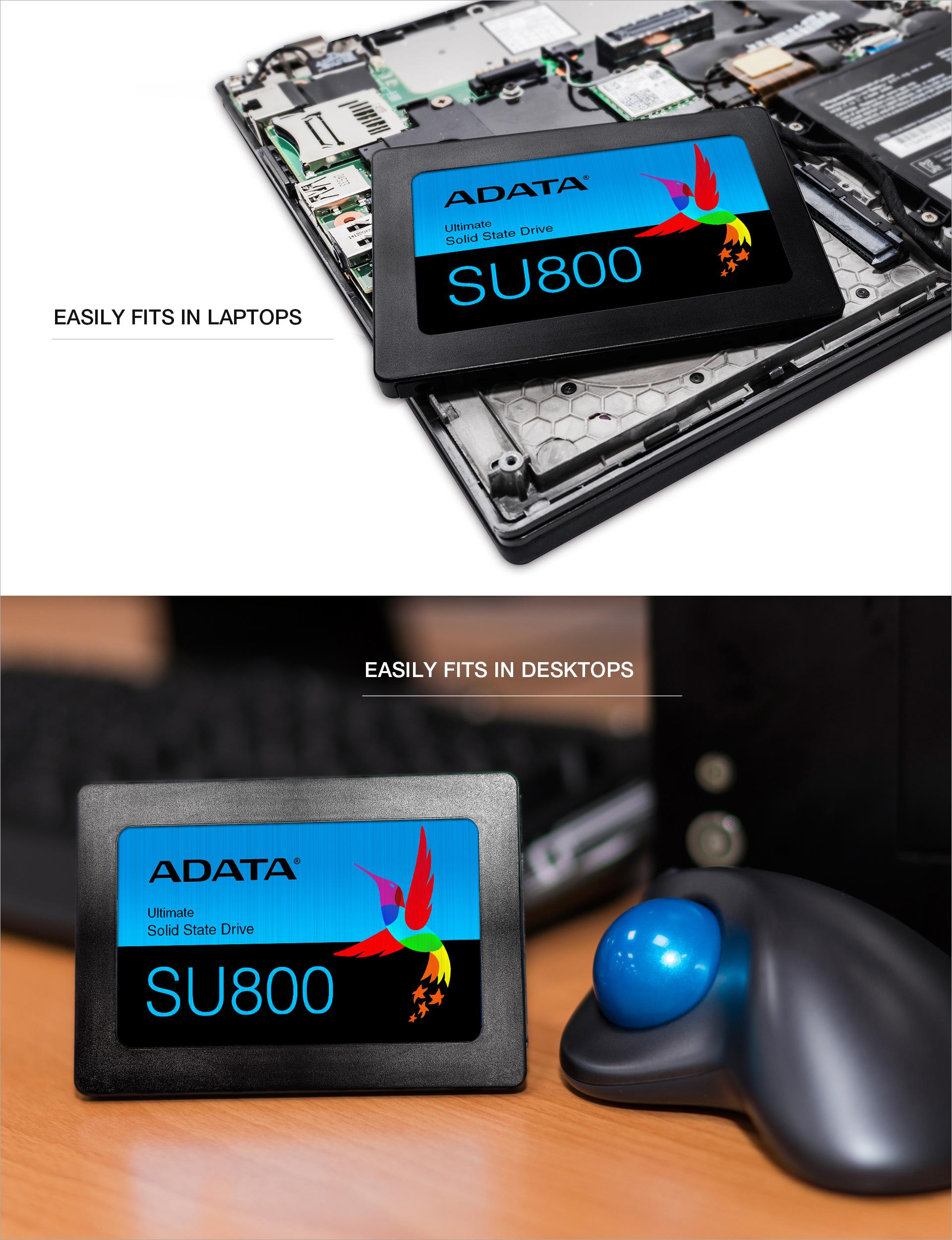 ASU800SS-1TT-C ADATA Ultimate Su800 1TB 3D Nand 2.5 Inch SATA III Internal SSD