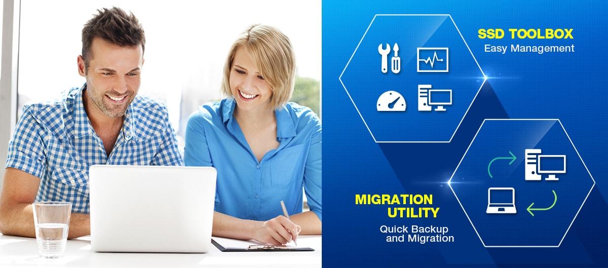 Logiciel propriétaire - Boîte à outils SSD et utilitaire de migration
