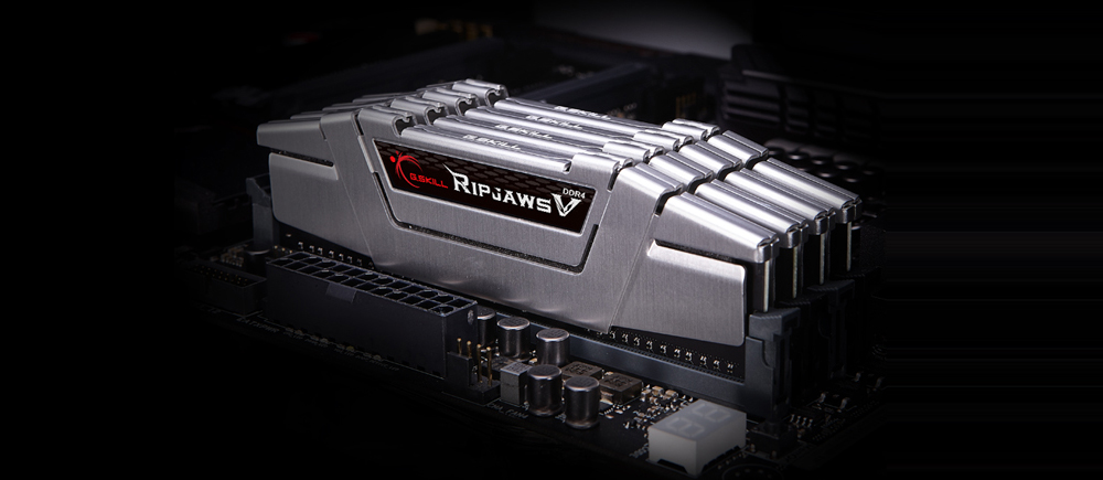 4 installed silver ripjaws V memory on its motherboard