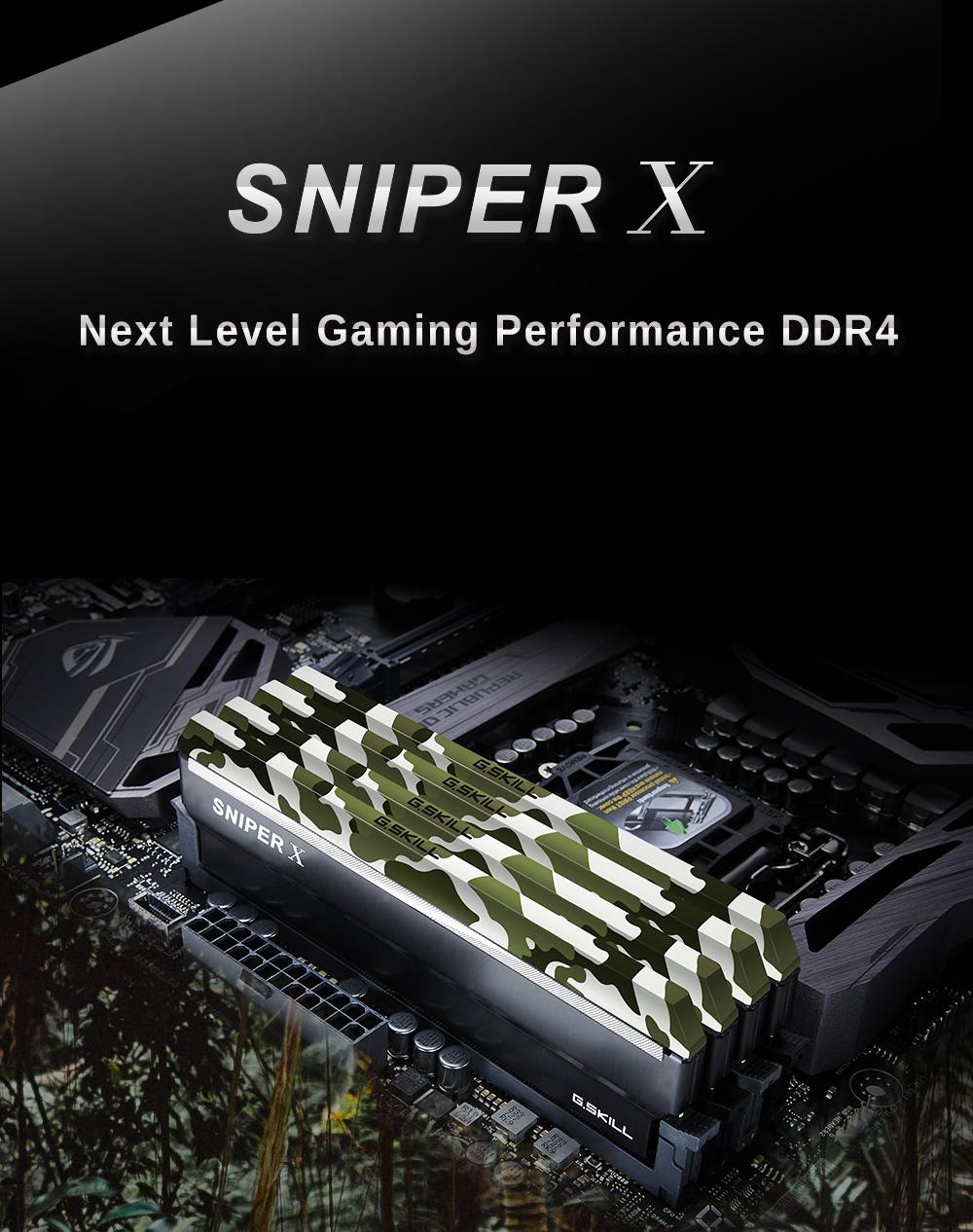 G.SKILL Sniper X Series 16GB NEW F4-3200C16D-16GSXKB DDR4 Memory Ram 2x8GB