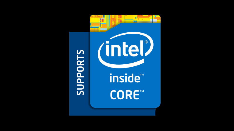Supports Intel Inside Core Badge