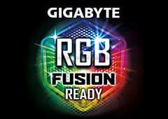 a GIGABYTE RGB Fusion logo