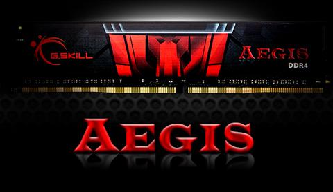 G.SKILL AEGIS DDR4 Memory Module and AEGIS Graphic Text