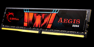 AEGIS DDR4 gaming memory angled to left