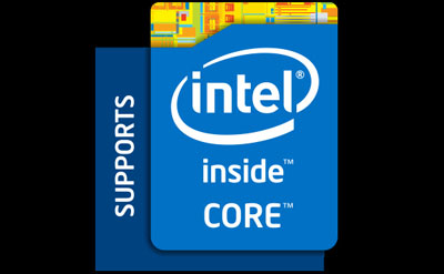Logo of Intel Core inside