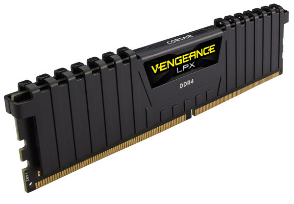 Vengeance LPX memory angled to right