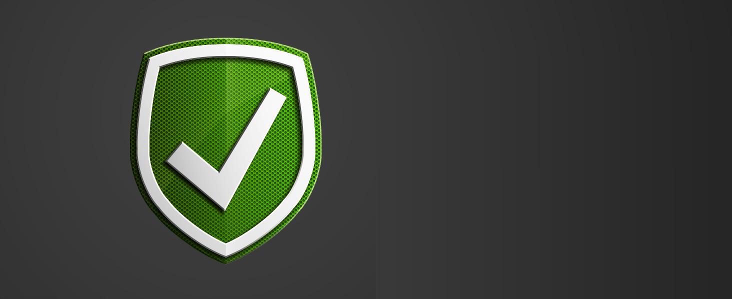 Durability, a green check mark shield