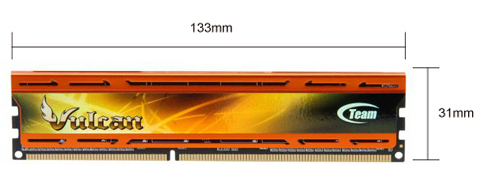 the dimensions of the memory module