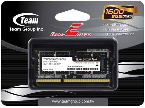 Team Elite 8GB 204-Pin DDR3 SO-DIMM DDR3 1600 (PC3 12800) Memory (Notebook  Memory) Model TED3L8G1600C11-S01 - Newegg com