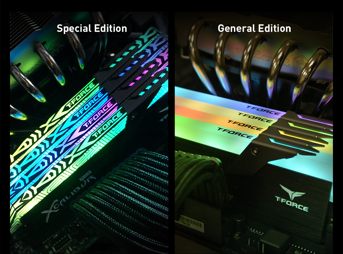 TeamGroup T Force Xcalibur RGB DDR4 16GB 2x8GB 4000MHz PC4 32000 CL18  Desktop Memory Module ram,