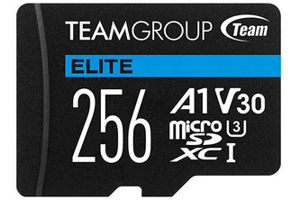 Team Group 256GB microSD Card Facing Forward