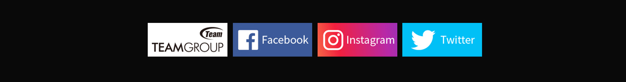 Team Group, Facebook, Instagram and Twitter Logos