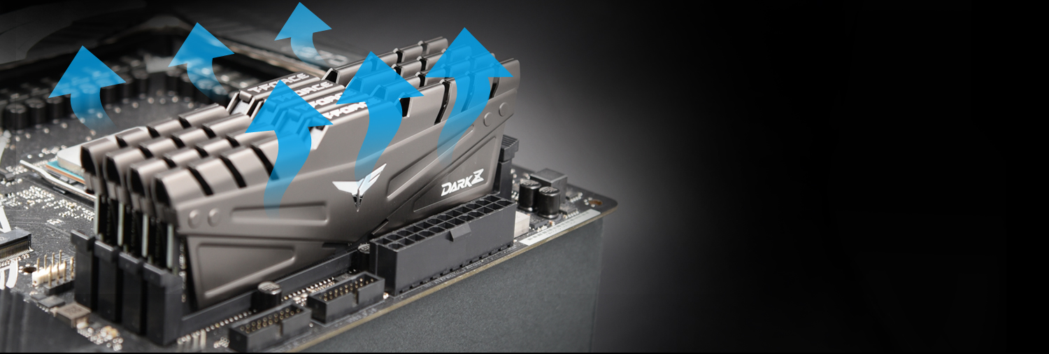 Team T-FORCE DARK Z/Za Desktop Memory Model HEAT DISSIPATION Cooling process demonstration