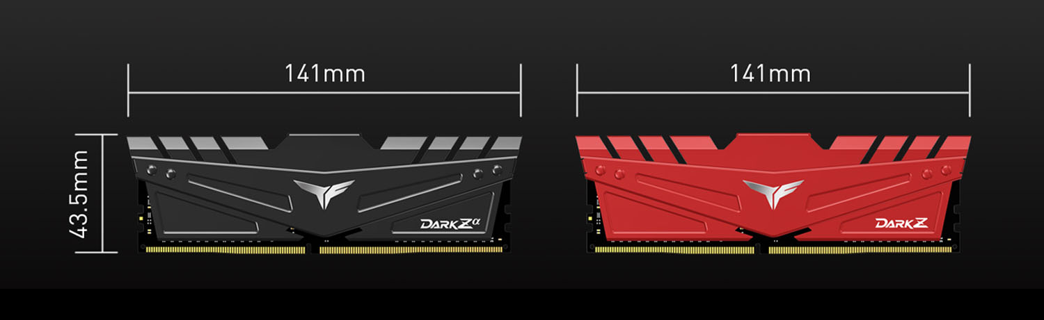 Team T-FORCE DARK Z/Za Desktop Memory Model Dimensions