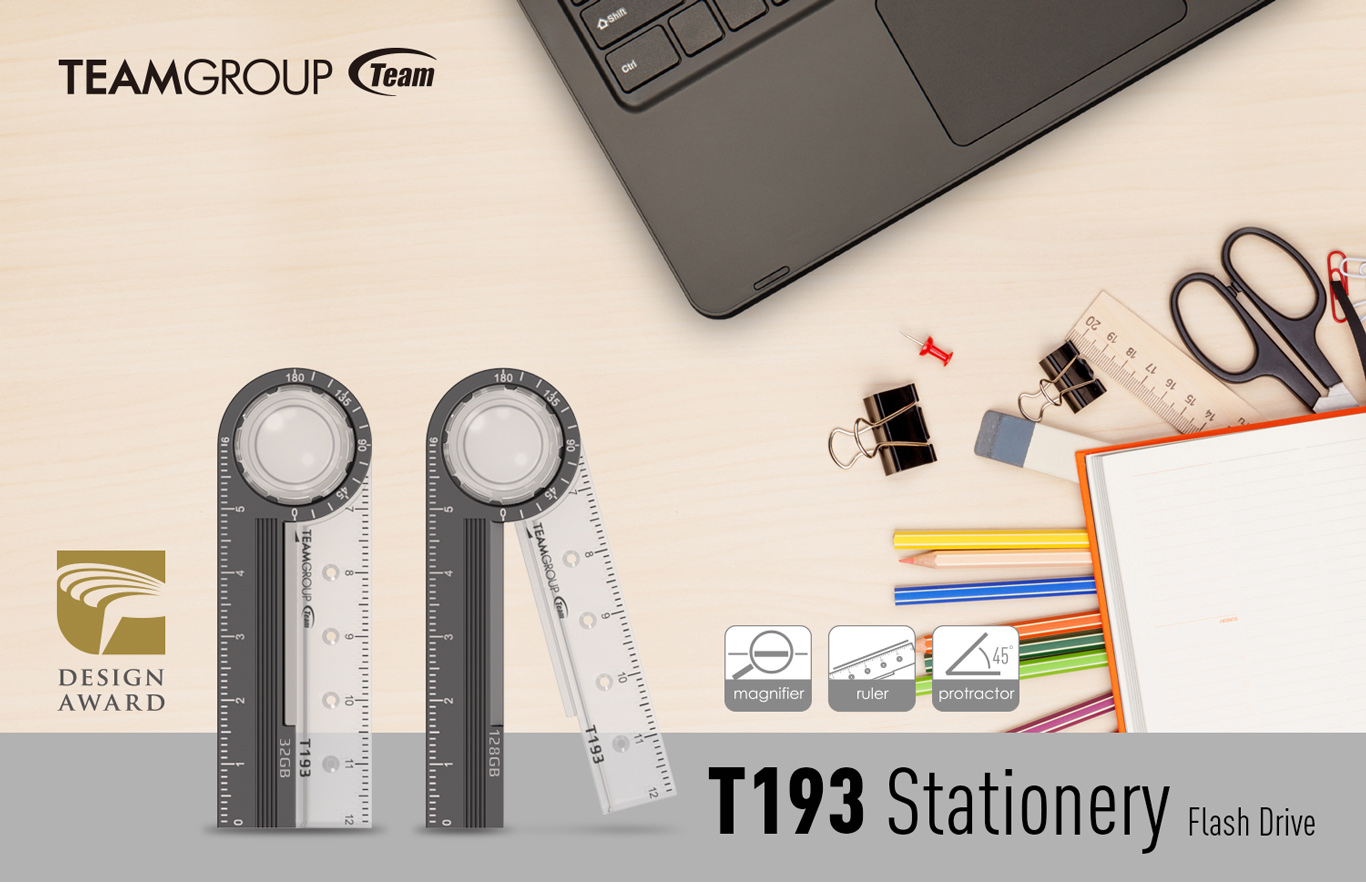 Team Group T193 Stationery facing forward and Team Group logo