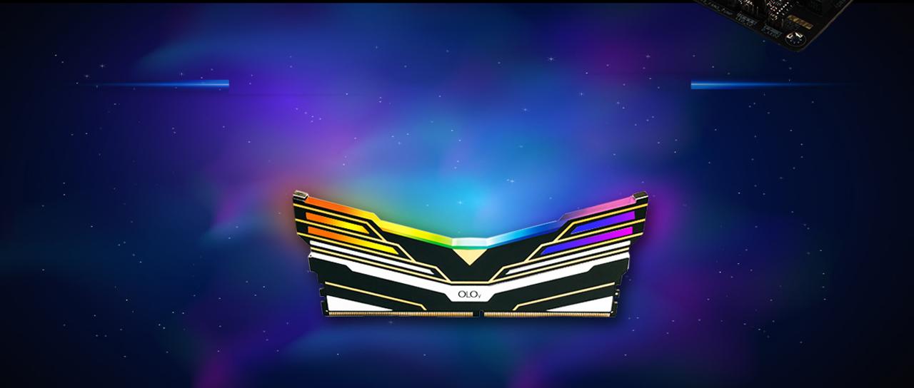 Black OLOy WarHawk RGB Memory Facing Forward