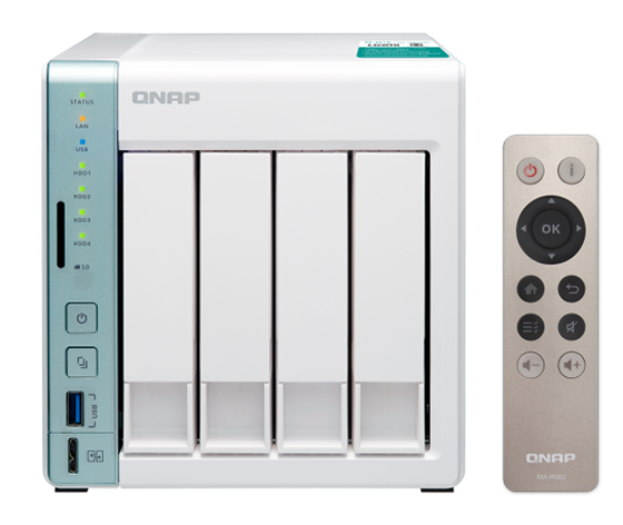 QNAP 4-bay TS-451A personal cloud NAS / DAS with USB direct access, HDMI  local display - Newegg com
