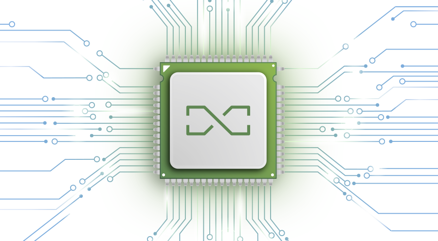 Artistic Graphic of a Processor