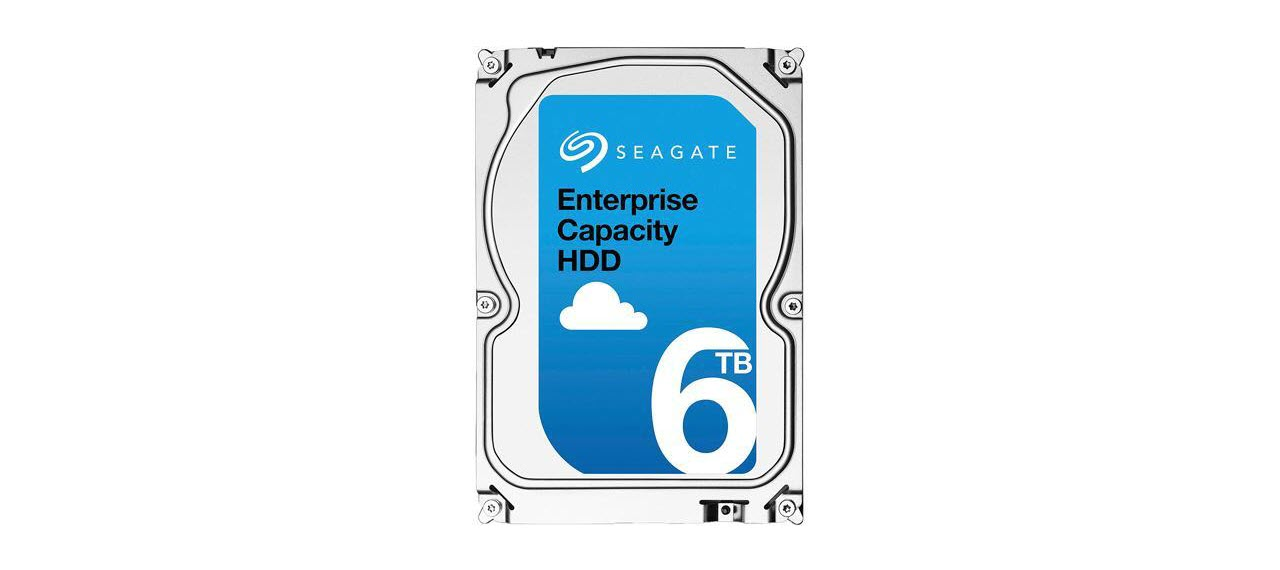 6TB Seagate Enterprise Capacity 3.5-inch HDD fron look
