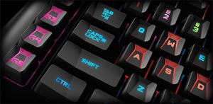 Closeup of the Logitech G910 Keyboard's Left-Side Keys